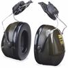 Peltor Optime Earmuff Cap-Mount Headset - Noise Protection - Stainless Steel Headband, Foam, ABS Plastic - Black - 1 Each