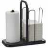 "BreakCentral Napkin/Towel Holder - 15.8"" x 16"" x 8"" - Metal - 1 Each - Black"