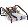 """BreakCentral Wide Condiment Organizer - 9 Compartment(s) - 8"""" Height x 13.5"""" Width x 17"""" Depth - Counter - Black, Clear - Metal - 1Each"""