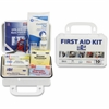 "Pac-Kit Safety Eq. 10-person First Aid Kit - 76 x Piece(s) For 10 x Individual(s) - 4.5"" Height x 7.5"" Width x 2.8"" Depth - Plastic Case - 1 Kit"