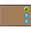 "Quartet® Prestige® 2 Magnetic Cork Bulletin Board - 24"" Height x 36"" Width - Brown Cork Surface - Black Frame - 1 / Each"