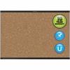 "Quartet® Prestige® 2 Magnetic Cork Bulletin Board - 36"" Height x 48"" Width - Brown Cork Surface - Black Frame - 1 / Each"