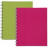 Sparco Twin-Wire Professional-Style Notebook - 80 Pages - Printed - Twin Wirebound - Multi-colored Cover - 2 / Pack