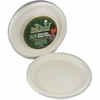 "StalkMarket Sugarcane Fiber Disposable Plates - 10"" Diameter Plate - Sugarcane Fiber - Disposable - Microwave Safe - 300 Piece(s) / Carton"