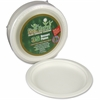 "StalkMarket Disposable Plates - 7"" Diameter Plate - Sugarcane Fiber - Disposable - Microwave Safe - White - 420 Piece(s) / Carton"