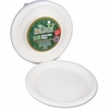 "StalkMarket Disposable Plates - 9"" Diameter Plate - Sugarcane Fiber - Disposable - Microwave Safe - White - 300 Piece(s) / Carton"