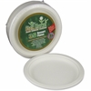 "StalkMarket Sugarcane Fiber 7"" Disposable Plates - 7"" Diameter Dessert Plate - Sugarcane Fiber - Disposable - Microwave Safe - White - 420 Piece(s) / Carton"