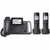 Panasonic Link2Cell KX-TG9582B DECT 6.0 Cordless Phone - Black - Corded/Cordless - 2 x Phone Line - 2 x Handset - Answering Machine