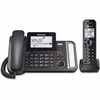 Panasonic Link2Cell KX-TG9581B DECT 6.0 Cordless Phone - Black - Corded/Cordless - 2 x Phone Line - 1 x Handset - Answering Machine
