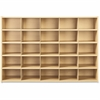 "young Time 25 Tray Cubbie Storage - 32.5"" Height x 48"" Width x 15"" Depth - Maple - 1Each"