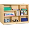 "Jonti-Craft Super-sized Double-sided Storage Shelf - 35.5"" Height x 48"" Width x 28.5"" Depth - Baltic - Hard Rubber - 1Each"