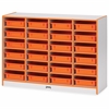 "Rainbow Accents Gray Laminate Cubbie Storage Unit - 24 Compartment(s) - 35.5"" Height x 48"" Width x 15"" Depth - Orange - Rubber - 1Each"