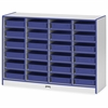 "Rainbow Accents Paper-Tray Storage - 24 Compartment(s) - 35.5"" Height x 48"" Width x 15"" Depth - Blue - Rubber - 1Each"