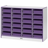"Rainbow Accents Paper-Tray Storage - 24 Compartment(s) - 35.5"" Height x 48"" Width x 15"" Depth - Purple - Rubber - 1Each"