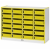 "Rainbow Accents Paper-Tray Storage - 24 Compartment(s) - 35.5"" Height x 48"" Width x 15"" Depth - Yellow - Rubber - 1Each"
