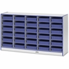 "Rainbow Accents Paper-Tray Storage - 30 Compartment(s) - 35.5"" Height x 60"" Width x 15"" Depth - Blue - Rubber - 1Each"