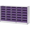 "Rainbow Accents Paper-Tray Storage - 30 Compartment(s) - 35.5"" Height x 60"" Width x 15"" Depth - Purple - Rubber - 1Each"