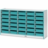 "Rainbow Accents Paper-Tray Storage - 30 Compartment(s) - 35.5"" Height x 60"" Width x 15"" Depth - Teal - Rubber - 1Each"