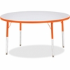 "Berries Adult Height Color Edge Round Table - Round Top - Four Leg Base - 4 Legs - 1.13"" Table Top Thickness x 48"" Table Top Diameter - 31"" Height - Assembly Required - Powder Coated - Steel"