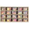 "young Time 20-Tray Cubbie Storage - 20 Compartment(s) - 26.5"" Height x 48"" Width x 15"" Depth - Baltic, Clear Tray - 1Each"