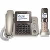 Panasonic KX-TGF350N DECT 6.0 Cordless Phone - Silver, Black - Corded/Cordless - 1 x Phone Line - 1 x Handset - Speakerphone