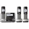 Panasonic Link2Cell KX-TGF373S Bluetooth Cordless Phone - Silver - Cordless - 1 x Phone Line - 2 x Handset - Speakerphone - Answering Machine