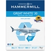 "Hammermill Copy & Multipurpose Paper - Letter - 8.50"" x 11"" - 20 lb Basis Weight - Recycled - 30% Recycled Content - 200000 / Pallet - White"