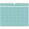 At-A-Glance Color Play Wall Calendar - Julian - Daily, Monthly - 1 Year - January 2017 till December 2017 - 1 Month Single Page Layout - Teal - Wire Bound - Wall Mountable - Eyelet, Reference Calendar