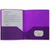 "Business Source 2-pocket Poly Portfolio - Letter - 8 1/2"" x 11"" Sheet Size - 30 Sheet Capacity - 2 Pocket(s) - Poly - Purple - 1 Each"