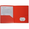 "Business Source 2-pocket Poly Portfolio - Letter - 8 1/2"" x 11"" Sheet Size - 30 Sheet Capacity - 2 Pocket(s) - Poly - Red - 1 Each"