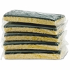"Impact Products Cellulose Scrubber Sponge - 0.9"" Height x 3"" Width x 6.3"" Length - 5/Pack - Cellulose - Yellow, Green"