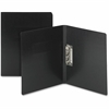 "Smead PressGuard® Report Cover with Punchless Fastener - Letter - 8 1/2"" x 11"" Sheet Size - 1/2"" Fastener Capacity - 20 pt. Folder Thickness - Pressguard, LeatherGrain - Black - Recycled - 1 / Eac"
