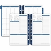 "Franklin Covey Monticello Planner Refill - Julian - Daily, Monthly - 1 Year - 1 Day Single Page Layout - 5.50"" x 8.50"" - Ring Binding - Black - Reference Calendar, Notes Area, Reminder Section, Tabbed"