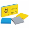 """Post-it Post-it Super Sticky Pop-up Notes, 3 in x 3 in, New York Color Collection - 540 x Multicolor - 3"""" x 3"""" - Square - 90 Sheets per Pad - Unruled - Multicolor - Paper - Self-stick, Recyclable - 6"""