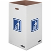 "Medium 42 Gallon Bin, 30""H x 18""W x 18""D - Internal Dimensions: 18"" Width x 18"" Depth x 30"" Height - External Dimensions: 18.4"" Width x 18.4"" Depth x 30.4"" Height - 42 gal - Corrugated Paper - White -"