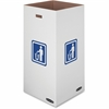 "Medium 50 Gallon Bin, 36""H x 18""W x 18""D - Internal Dimensions: 18"" Width x 18"" Depth x 36"" Height - External Dimensions: 18.4"" Width x 18.4"" Depth x 38.4"" Height - 50 gal - Corrugated Paper - White -"