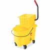 "Rubbermaid Commercial WaveBrake Bucket/Wringer - 26 quart - Tubular Steel, Plastic - 16.8"" x 15.6"" x 18.6"" - Yellow"