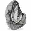 "Genuine Joe Black Nylon Hair Net - Large Size - 21"" Stretched Diameter - Contaminant Protection - Nylon - Blue - 100 / Pack"