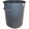 "Gator 32-gallon Container - 32 gal Capacity - Round - 27.1"" Height x 22"" Width - Plastic, Polyethylene - Gray"