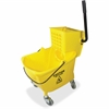 "Genuine Joe Bucket/Wringer Combo - 35 quart - 21"" x 16"" x 14"" - Yellow"