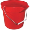 "Impact Products Deluxe Heavy Duty Bucket - 10 quart - Polypropylene - 10.3"" x 11"" - Red"