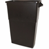 "Thin Bin 23-gal Brown Container - 23 gal Capacity - 30"" Height x 23"" Width - Polyethylene - Brown"