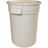 "Gator 10-Gallon Container - 10 gal Capacity - Rectangular - 17"" Height x 16"" Width - Polyethylene Resin, Plastic - White"