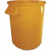 "44-Gallon Container - 44 gal Capacity - Rectangular - 31.6"" Height x 24"" Width - Polyethylene Resin, Plastic - Yellow"