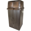 Vanguard 45-gallon In/Outdoor Receptacle - 45 gal Capacity - Polyethylene, Structural Foam - Brown