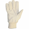 ProGuard Cotton Canvas Gloves - Cotton Canvas, Fleece Liner - Natural - Knit Wrist, Comfortable, Flexible - For General Purpose, Warehouse, Material Handling, Assembling - 1 Dozen