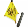 "Impact Products Pop Up 20"" Safety Cone - 1 Each - 20"" Height - Cone Shape - Plastic - Yellow, Black"
