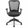 "Lorell Mesh-back Task Chair with Swivel Tilt - Fabric Black Seat - Black Back - 5-star Base - 29"" Width x 26"" Depth x 40.5"" Height"