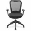 "Lorell Mesh-back Task Chair with Swivel Tilt - Fabric Black Seat - Black Back - 5-star Base - 29"" Width x 26"" Depth x 40.5"" Height"