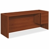 "HON 10700 Series Right Credenza - 72"" x 24"" x 29.5"" - 2 x File Drawer(s), Box Drawer(s) - Single Pedestal - Waterfall Edge - Material: Wood - Finish: Cognac, High Pressure Laminate (HPL)"